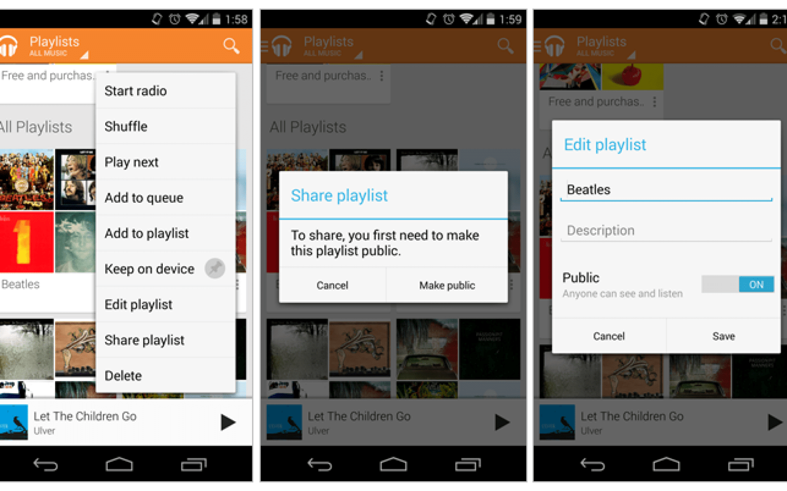 how to access your playlist on google play
