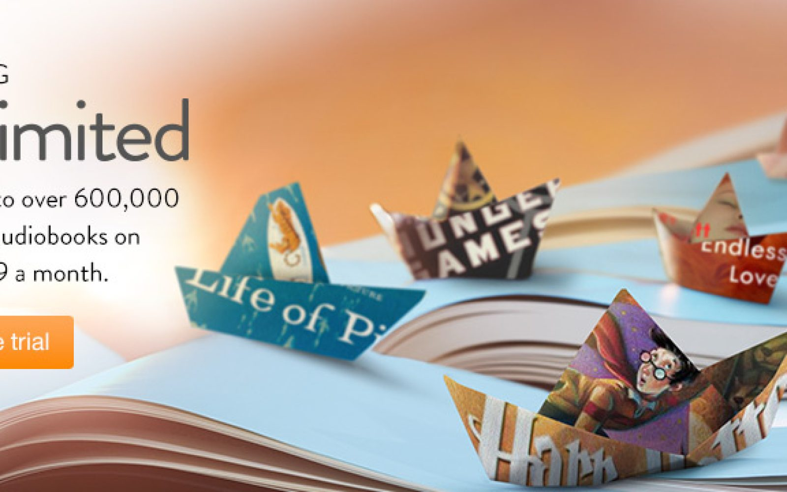 Amazon's unlimited ebook and audiobook subscription service