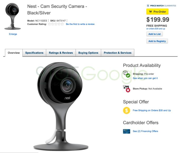 Nest Cam Security Camera Multi NC1102ES - Best Buy 2015-06-17 11-14-11
