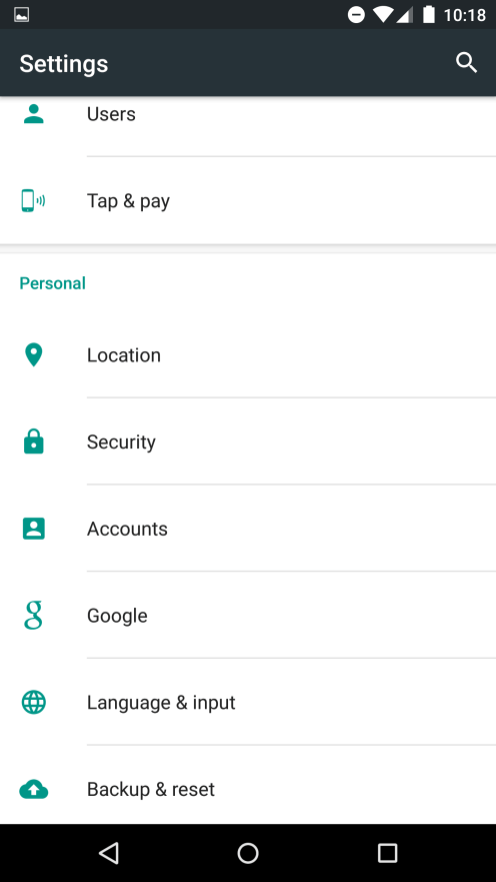 Google Settings now in the Settings app