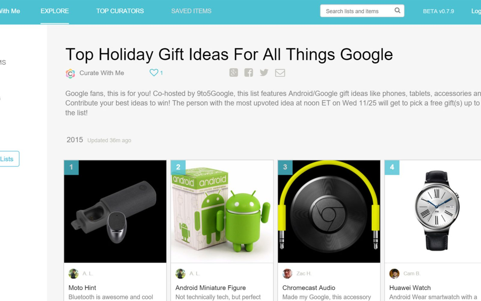 curate with me win a prize 2015s top holiday google gift guide