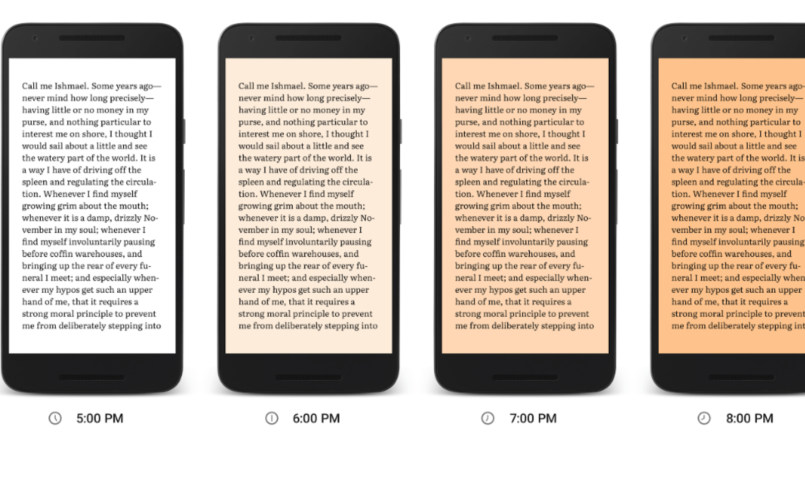 Google Play Books adds new Night Light mode to make late ...