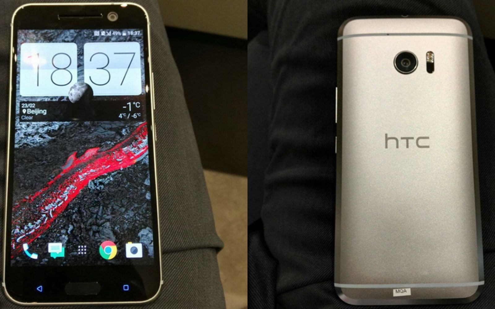 HTC 10 real life images emerge, seemingly show a close-to-finalized device
