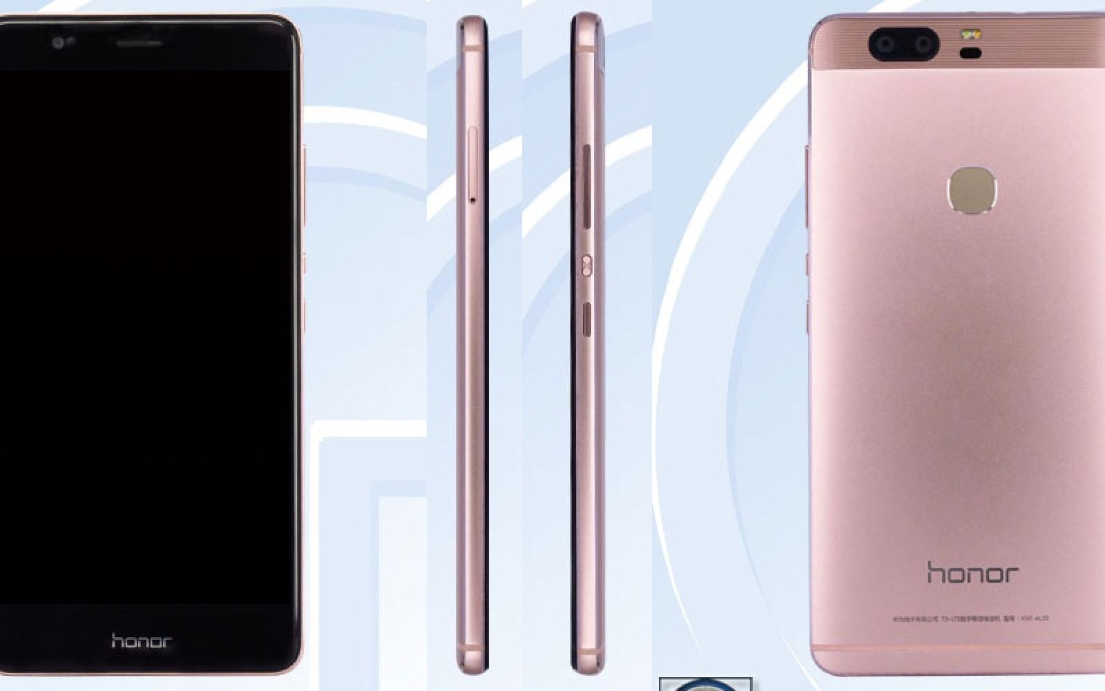 Honor V8 leaks on TENAA, features dual-camera setup, 4GB RAM, QHD screen, 3400mAh battery and pink metal finish