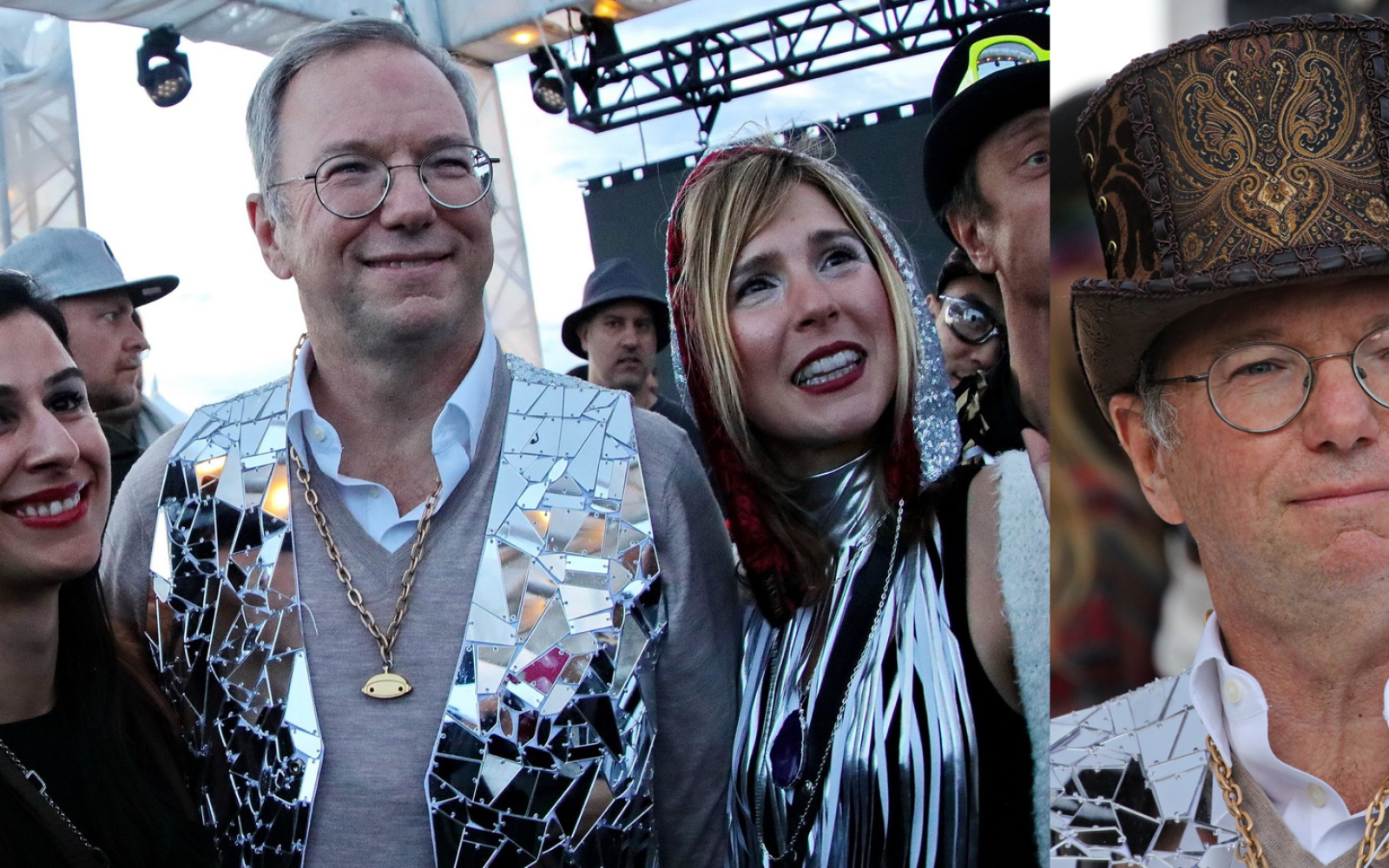 Eric Schmidt attended a 'Burning Man for the 1%' desert party with 'unabashed luxury'