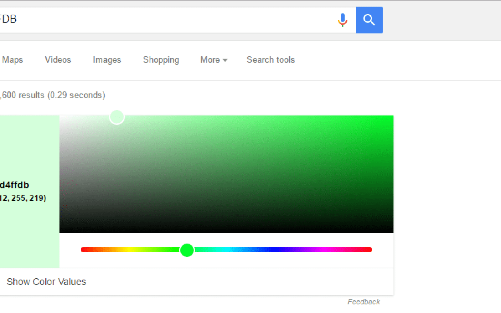 You can now use an RGB to HEX color converter in Google Search ...