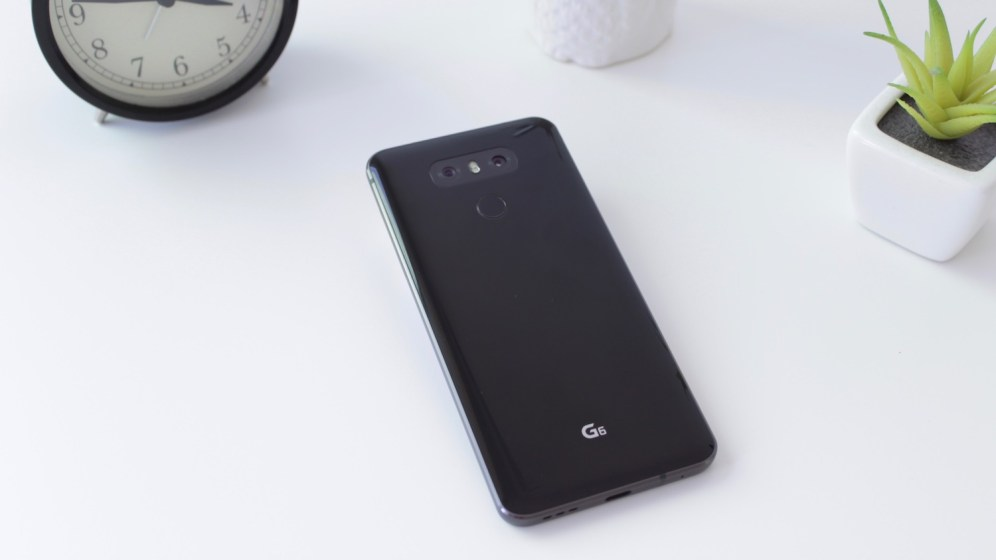 LG G6 lying on table
