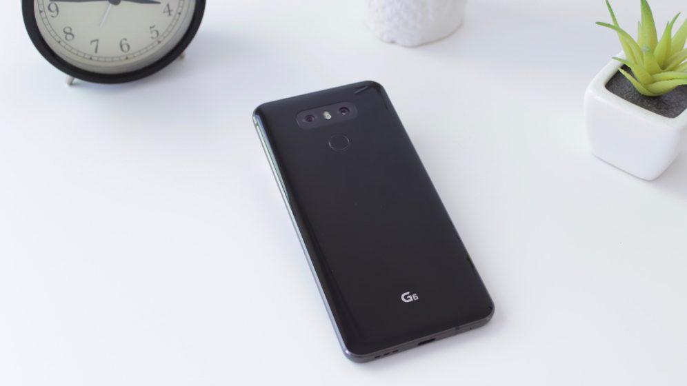 LG G6 lying on table