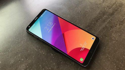 LG G6 Lockscreen Wirelessly Charging