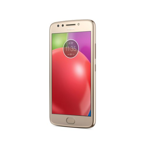 Moto E4_Fine Gold_Front Angle_With Fingerprint Sensor