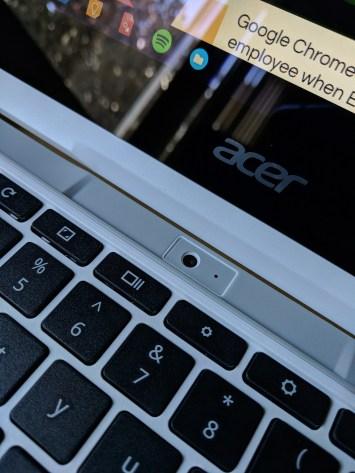 Rear-facing camera in tablet mode