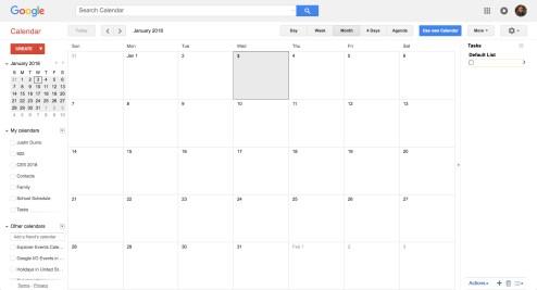 Old Google Calendar Design