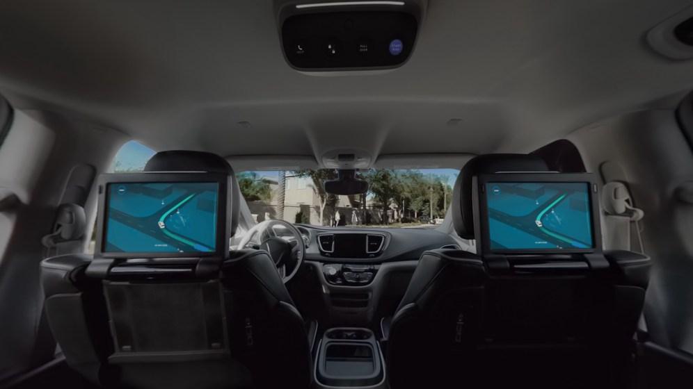 Waymo car view