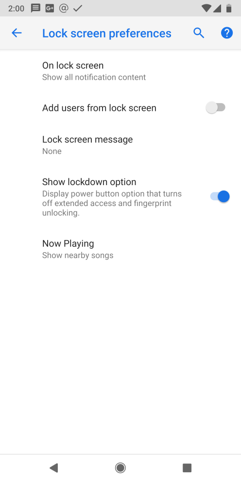 android-p-dp1-lockdown-setting