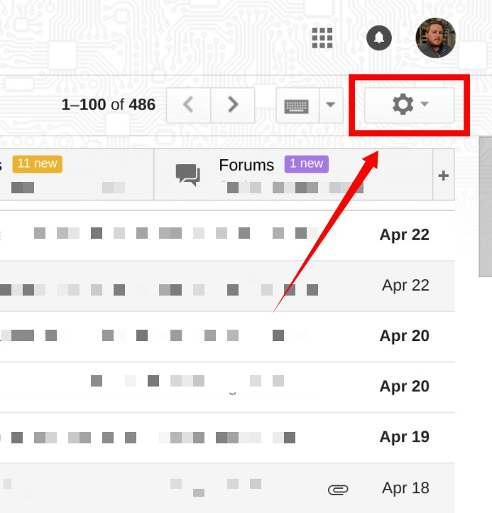 change gmail appearance