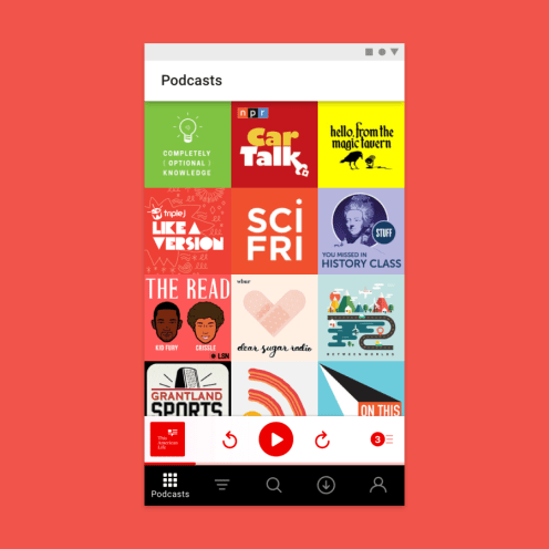 Pocket Casts' Material Theme