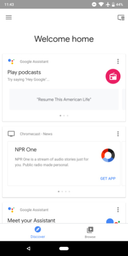 Revamped Google Home app w/ more Material Theme stylings in the
