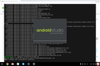 Chrome OS Terminal Android Studio