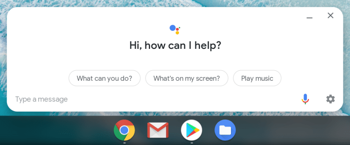 Android Pie for Chrome OS Assistant UI