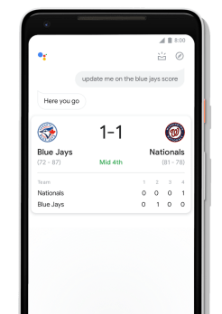 Google Assistant redesign sports