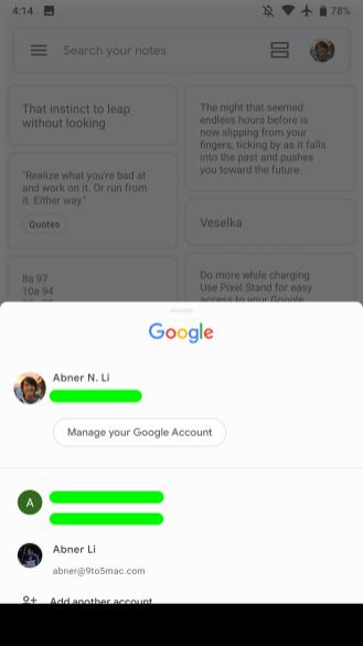 Google Keep Material Theme