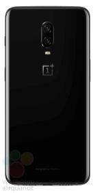 oneplus 6t leaked press render