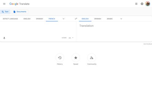 Google Translate Material Theme