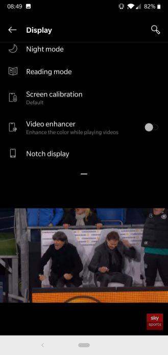 Video Enhancer off - Video