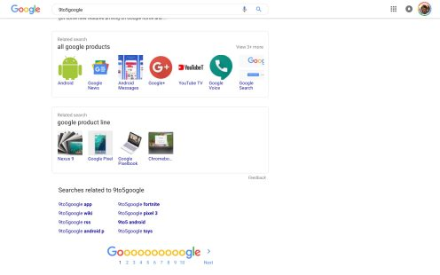 Google Search Material Theme