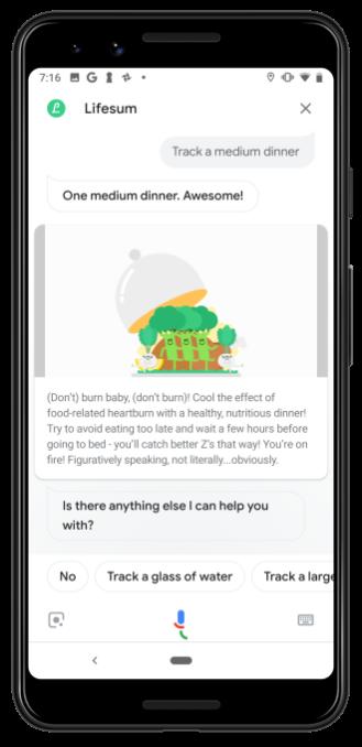 Lifesum launches Google Assistant app