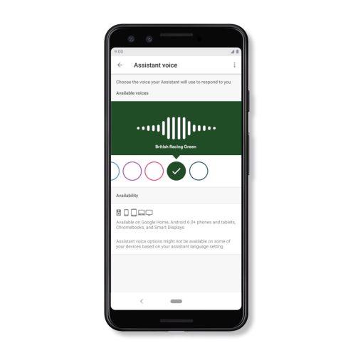 Google Assistant Australian voice