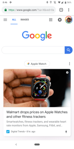 Google Material Theme Search mobile web