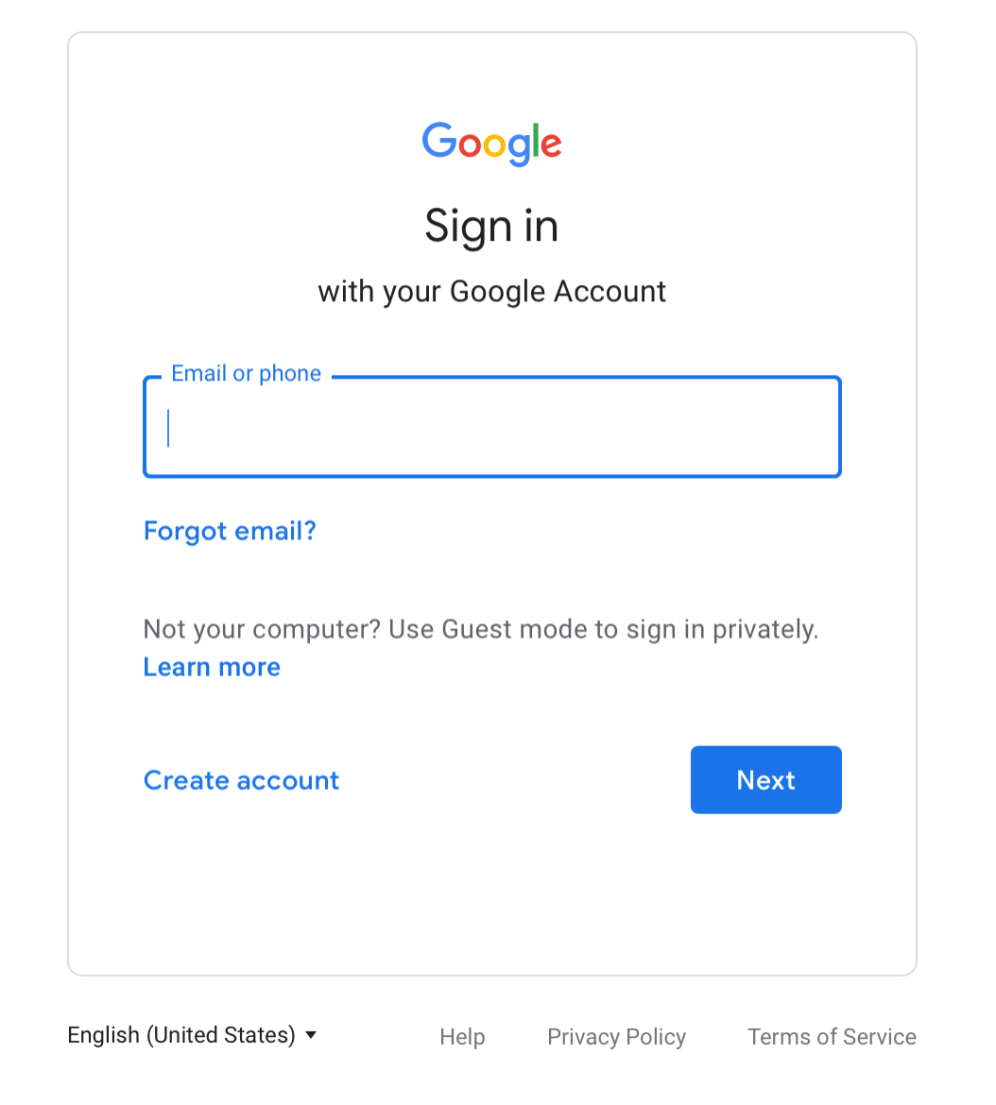 Google Sign-in Material Theme