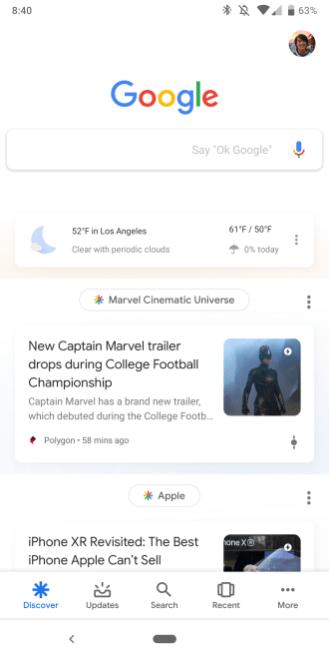 Google app Material Theme Assistant