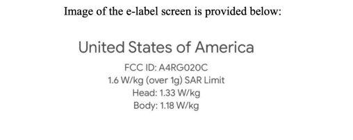 Google Pixel 3 Lite FCC
