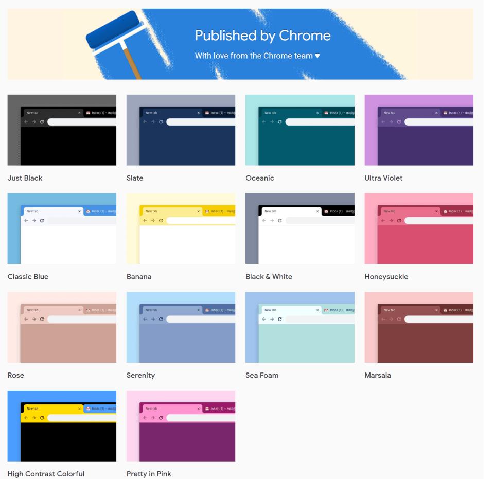 Tema resmi Google Chrome, Mode Gelap