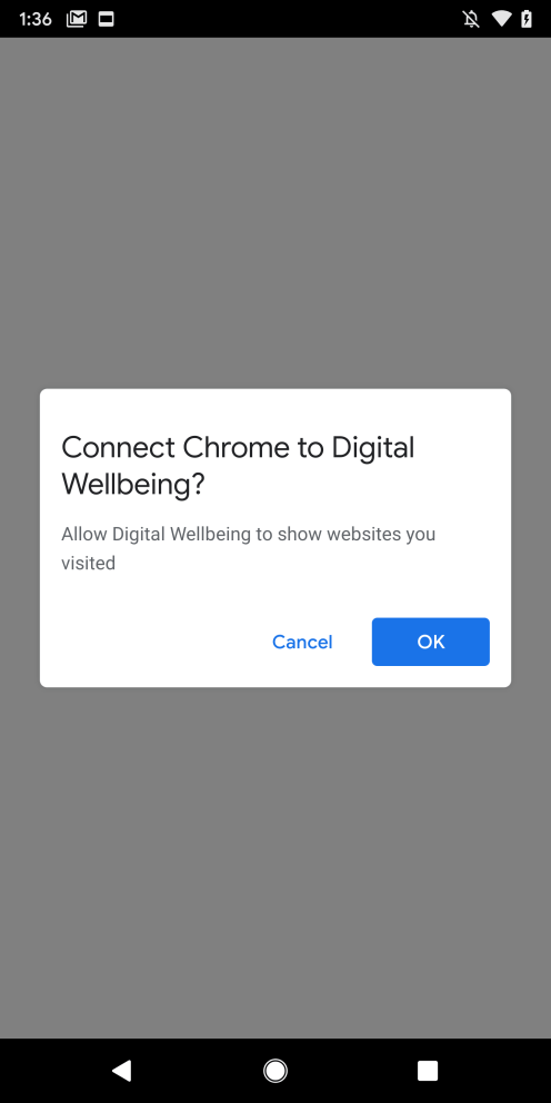 Android Q Chrome Digital Wellbeing Dialog