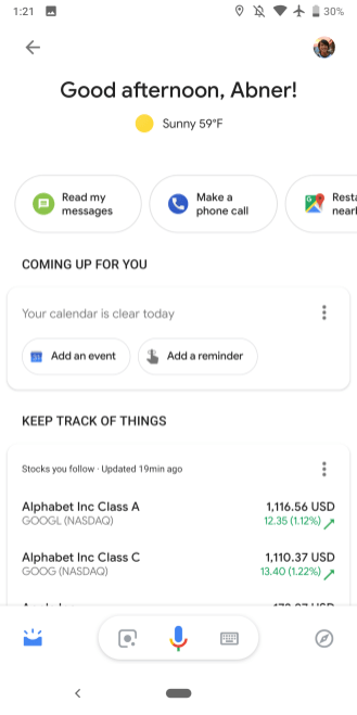 Google Assistant early 2019