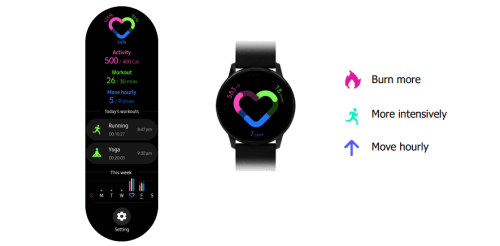 samsung galaxy watch active health features