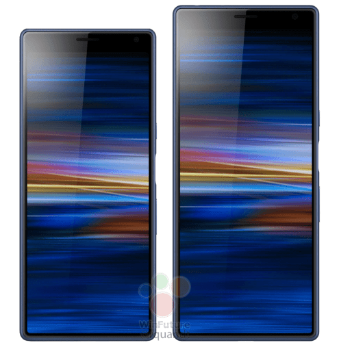 sony xperia 10 (left) vs xperia 10 plus (right)