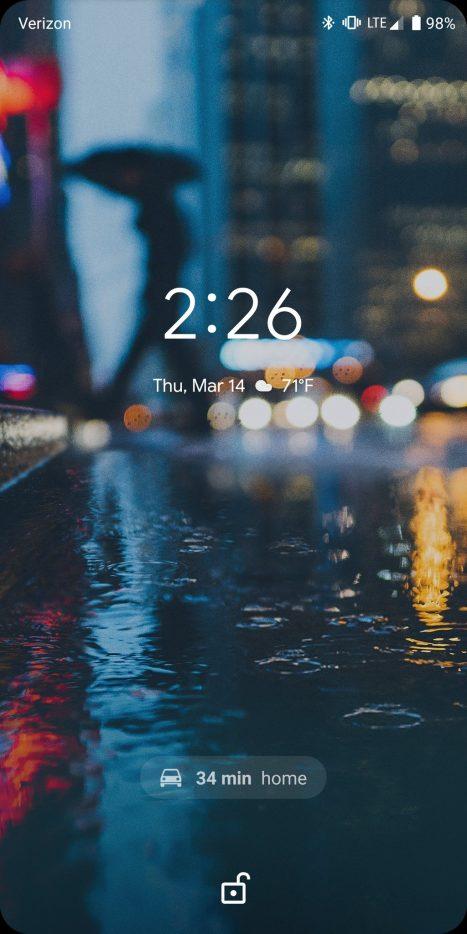 Android Q Beta 1 AOD ETA