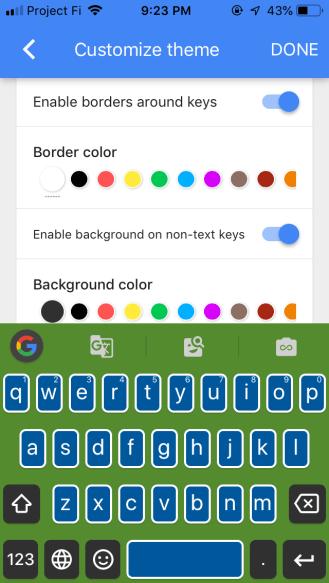 Gboard 2 iOS theming