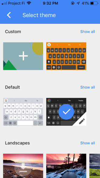 Gboard 2 iOS theming