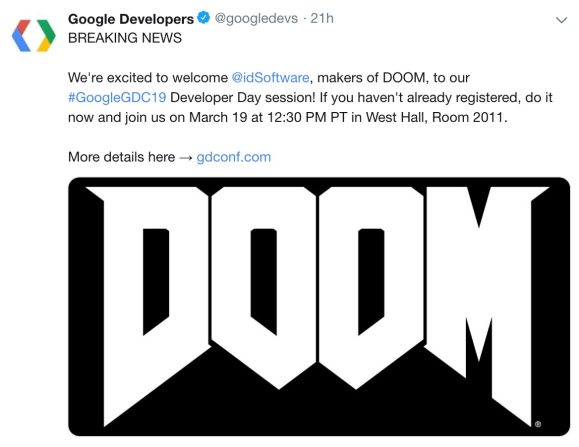 Google game dev sessions GDC