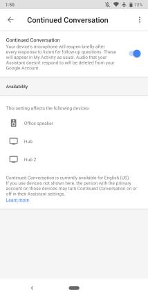 Smart Displays Continued Conversation