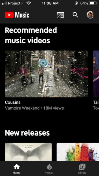 YouTube Music 3.07