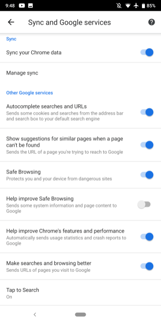 Chrome 74 Android