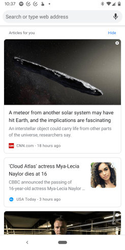 Chrome for Android Articles for you snippets