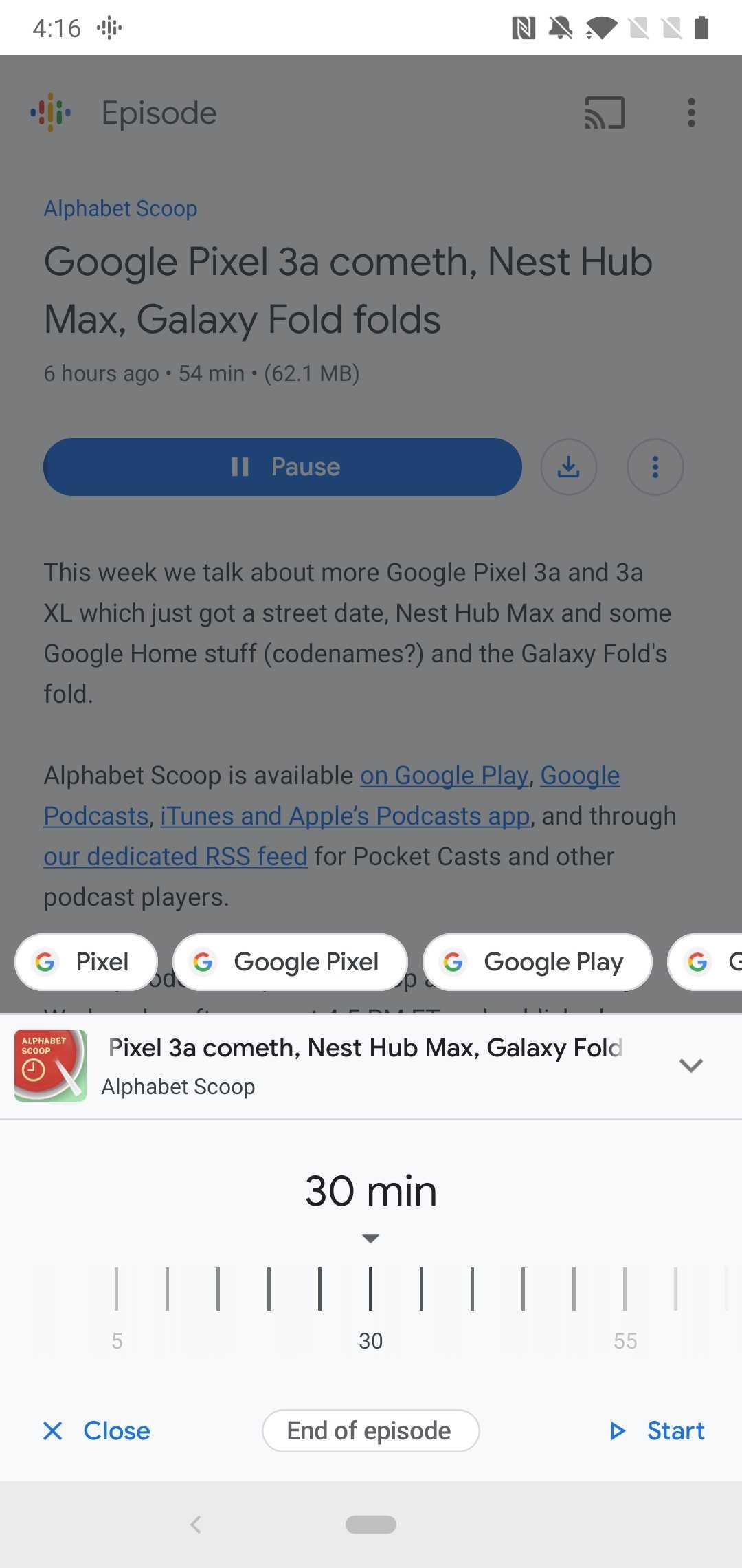 Google App 9.72 Beta bricht Wetter-App, fügt neueste / älteste Sortierung in Podcasts hinzu, neues Objektiv-Symbol [APK Insight]