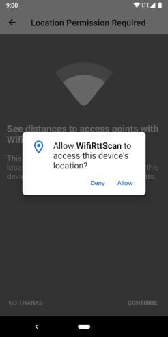 Google WifiRttScan App